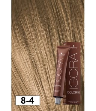 8-4 Color10 Light Blonde Beige  60g - Igora Color10 by Schwarzkopf