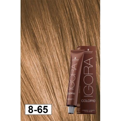 8-65 Color10 Light Blonde Auburn Gold  60g - Igora Color10 by Schwarzkopf
