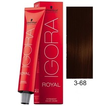 3-68 Dark Brown Chocolate Red 60g - Igora Royal by Schwarzkopf