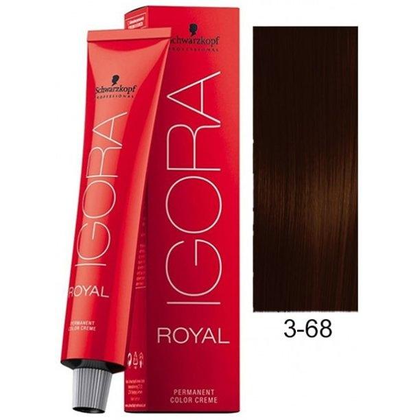 3-68 Dark Brown Chocolate Red 60g - Igora Royal by Schwarzkopf