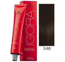 3-65 Dark Brown Auburn Gold 60g - Igora Royal by Schwarzkopf