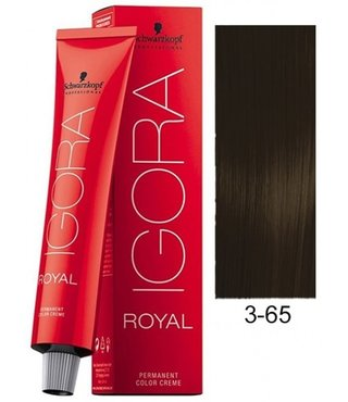 3-65 Dark Brown Auburn Gold 60g - Igora Royal by Schwarzkopf