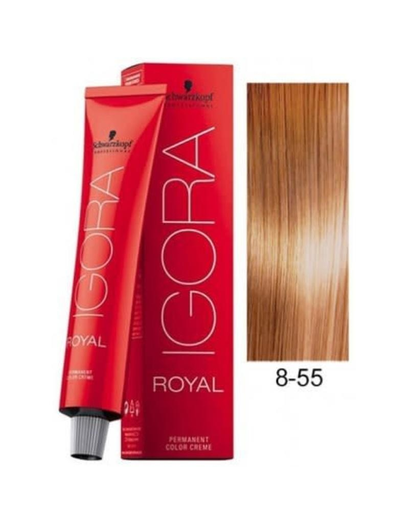 8-55 Light Blonde Gold Extra 60g - Igora Royal by Schwarzkopf
