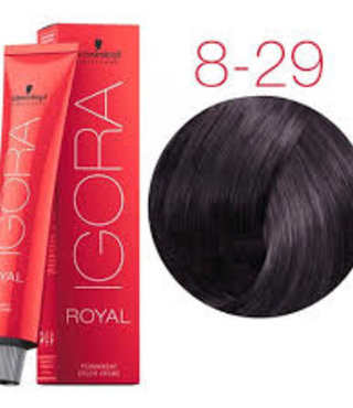 8-29 Light Blonde Ash Violet  60g - Igora Royal by Schwarzkopf