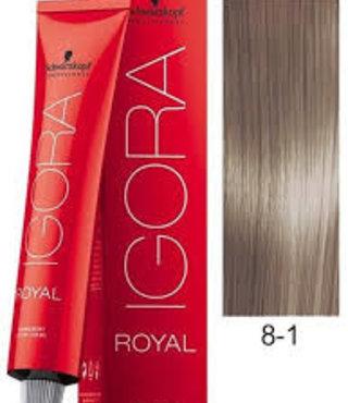 8-1 Light Blonde Cendre  60g - Igora Royal by Schwarzkopf