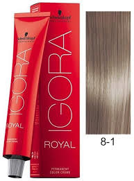 8-1 Light Blonde Cendre  60g - Igora Royal by Schwarzkopf
