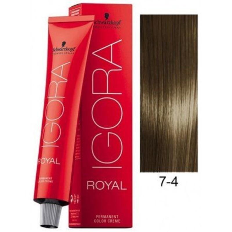 7-4 Medium Beige Blonde  60g - Igora Royal by Schwarzkopf
