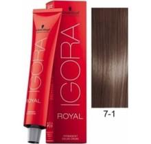 7-1 Medium Ash Blonde 60g - Igora Royal by Schwarzkopf
