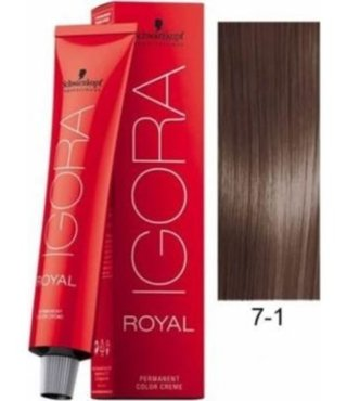 7-1 Medium Ash Blonde 60g - Igora Royal by Schwarzkopf