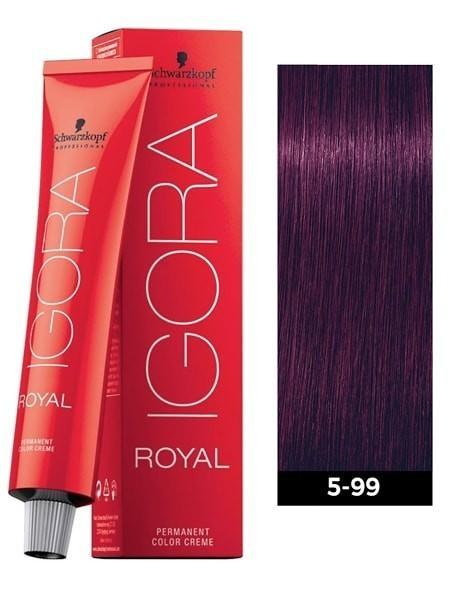 5-99 Light Brown Violet Extra 60g - Igora Royal by Schwarzkopf
