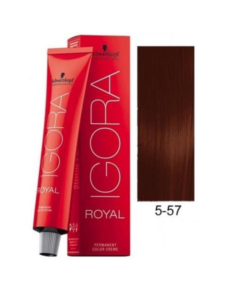 5-57 Light Brown Copper Gold 60g - Igora Royal by Schwarzkopf
