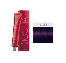 4-99 Medium Brown Violet Extra 60g - Igora Royal by Schwarzkopf