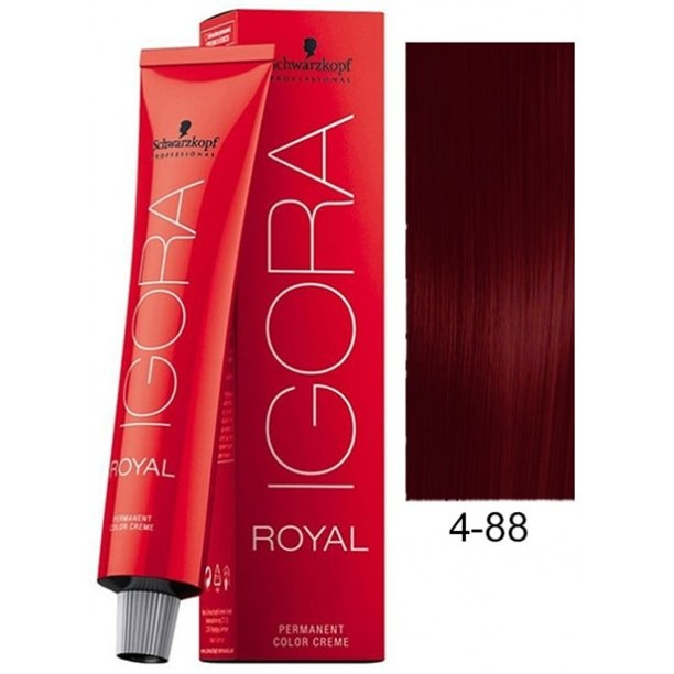 4-88 Medium Brown Red Extra 60g - Igora Royal by Schwarzkopf