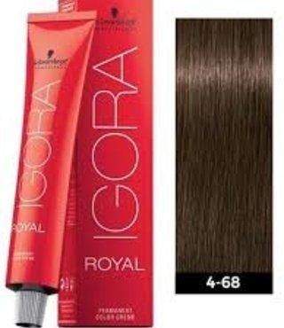 4-68 Medium Brown Chocolate Red 60g - Igora Royal by Schwarzkopf