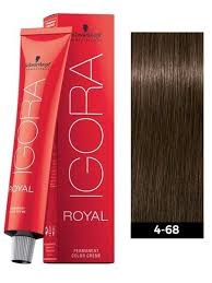 4-68 Medium Brown Chocolate Red 60g - Igora Royal by Schwarzkopf