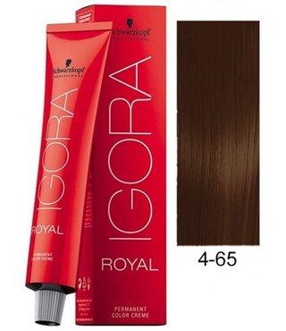 4-65 Medium Brown Chocolate Gold 60g - Igora Royal by Schwarzkopf