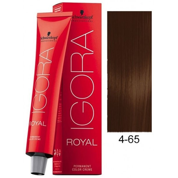 4-65 Medium Brown Chocolate Gold 60g - Igora Royal by Schwarzkopf