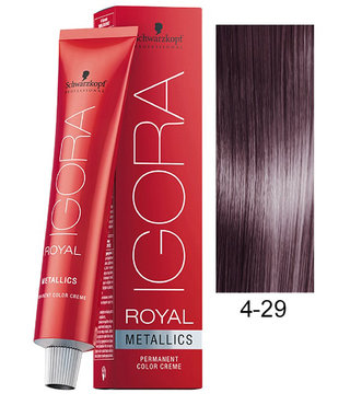 4-29 Medium Brown Ash Violet 60g - Igora Royal by Schwarzkopf
