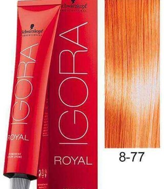 8-77  Light Copper Blonde Extra 60g - Igora Royal by Schwarzkopf