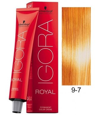 9-7 Extra Light Blonde Copper 60g - Igora Royal by Schwarzkopf