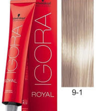 9-1 Light Ash Blonde 60g - Igora Royal by Schwarzkopf