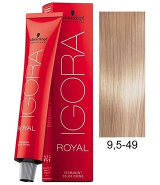 9.5-49 Platinum Blonde Beige 60g - Igora Royal by Schwarzkopf