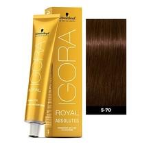 5-70 Light Brown Copper Natural 60g - Igora Royal Absolutes by Schwarzkopf