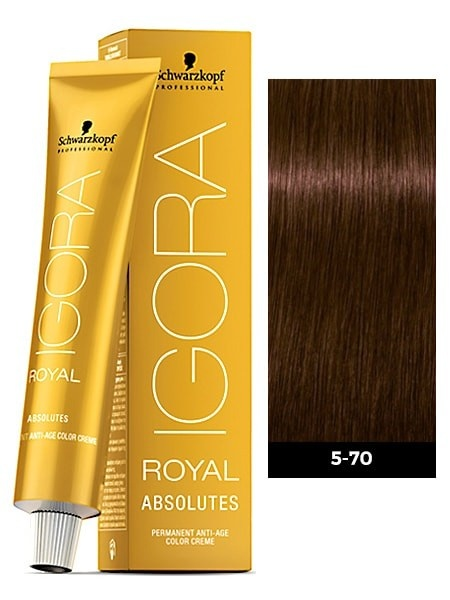 5-70 Light Brown Copper Natural 60g - Igora Royal Absolutes by Schwarzkopf