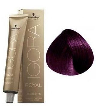 4-90 Medium Brown Violet Natural 60g - Igora Royal Absolutes by Schwarzkopf