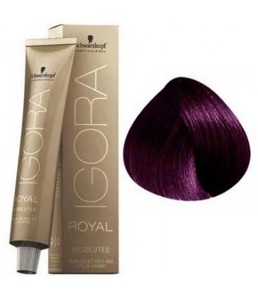 4-90 Medium Brown Violet Natural 60g - Igora Royal Absolutes by Schwarzkopf