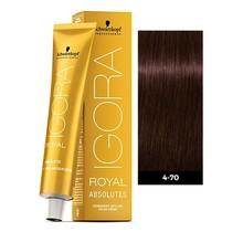 4-70 Medium Brown Copper Natural 60g - Igora Royal Absolutes by Schwarzkopf