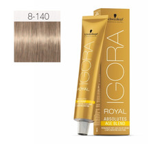 8-140 Light Blonde Cendre Beige 60g - Igora Royal Absolutes by Schwarzkopf