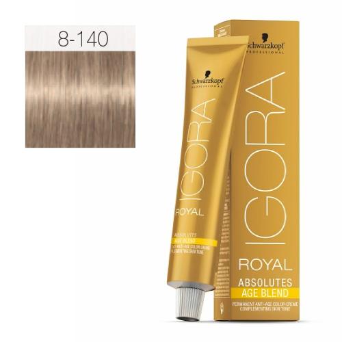 8-140 Light Blonde Cendre Beige 60g - Igora Royal Absolutes by Schwarzkopf