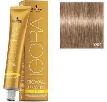 8-01 Light Blonde Natural Cendre 60g - Igora Royal Absolutes by Schwarzkopf