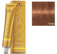 7-710 Medium Blonde Copper Ash Anti-Age 60g - Igora Royal Absolutes by Schwarzkopf