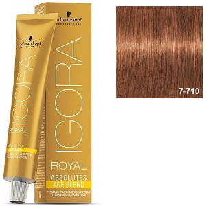 7-710 Medium Blonde Copper Ash Anti-Age 60g - Igora Royal Absolutes by Schwarzkopf