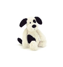 Jellycat Bashful Blk/Crm Puppy Md