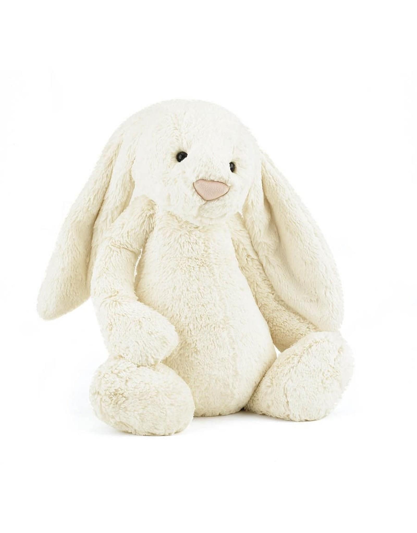 "Jellycat Bashful Bunny Creme Huge 21"""