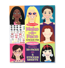 Melissa & Doug Sticker Pad Fashion Faces