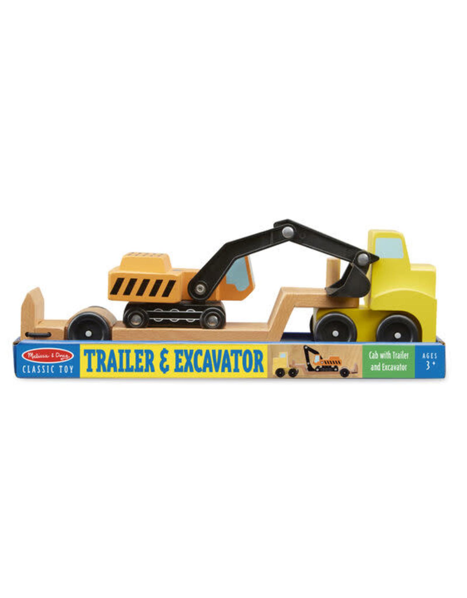 Melissa & Doug Trailer & Excavator