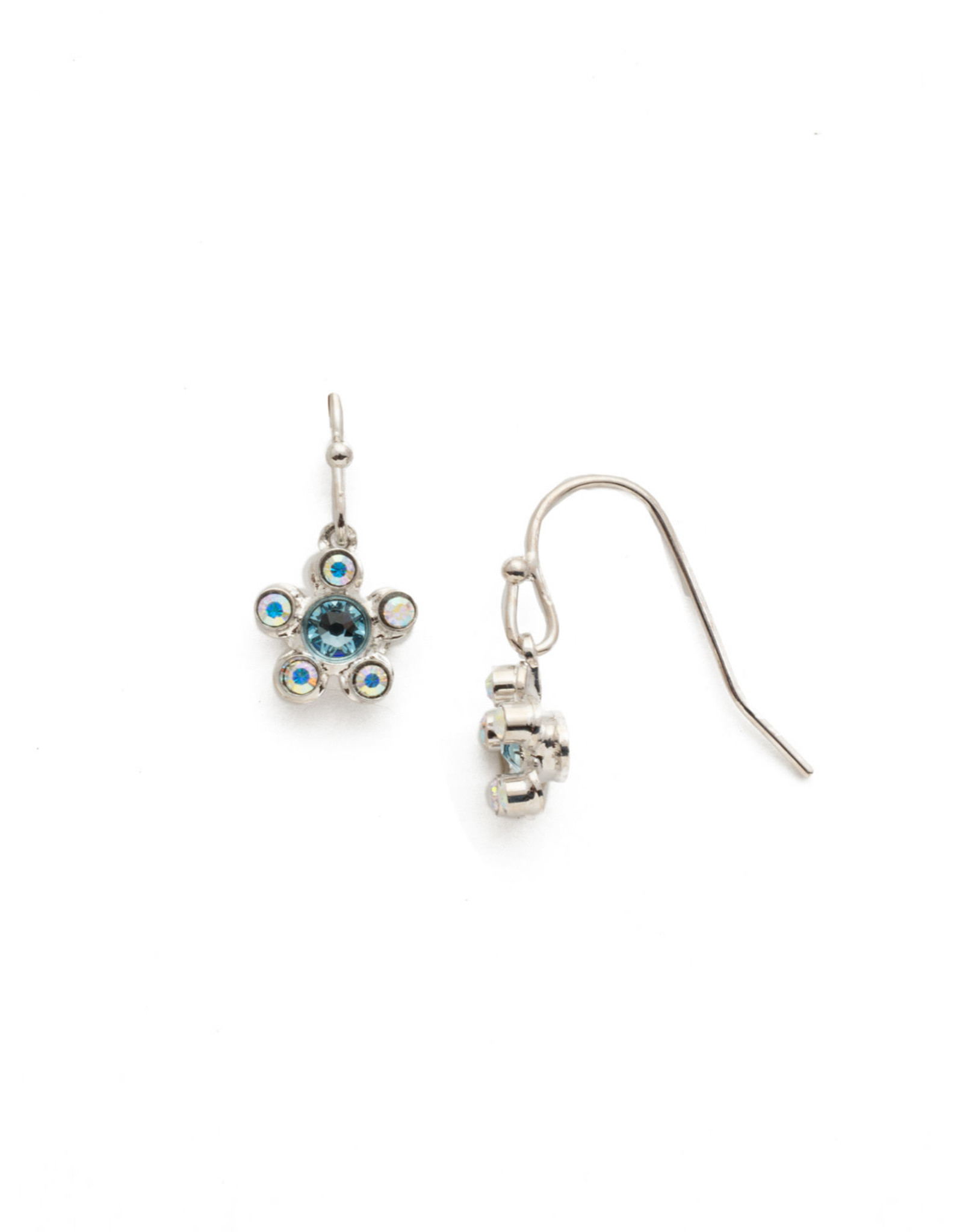 Sorrelli Sorrelli Lulu Dangle Earring in Rhodium Seersucker