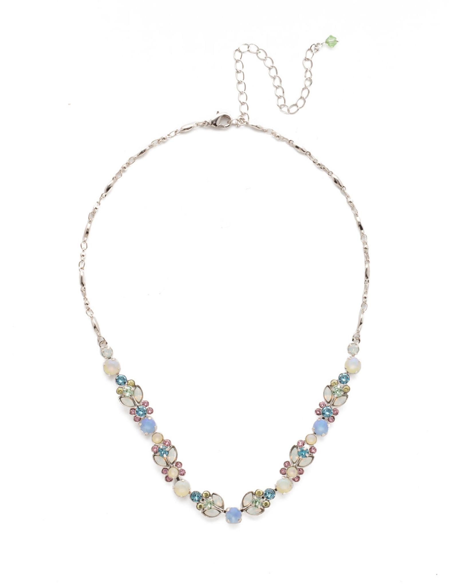 Sorrelli Sorrelli Terina Classic Line Necklace in Rhodium Seersucker