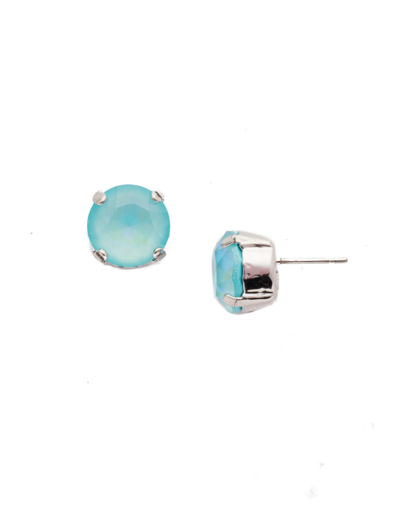 Sorrelli Sorrelli Round Crystal Stud Earring in Rhodium Seersucker