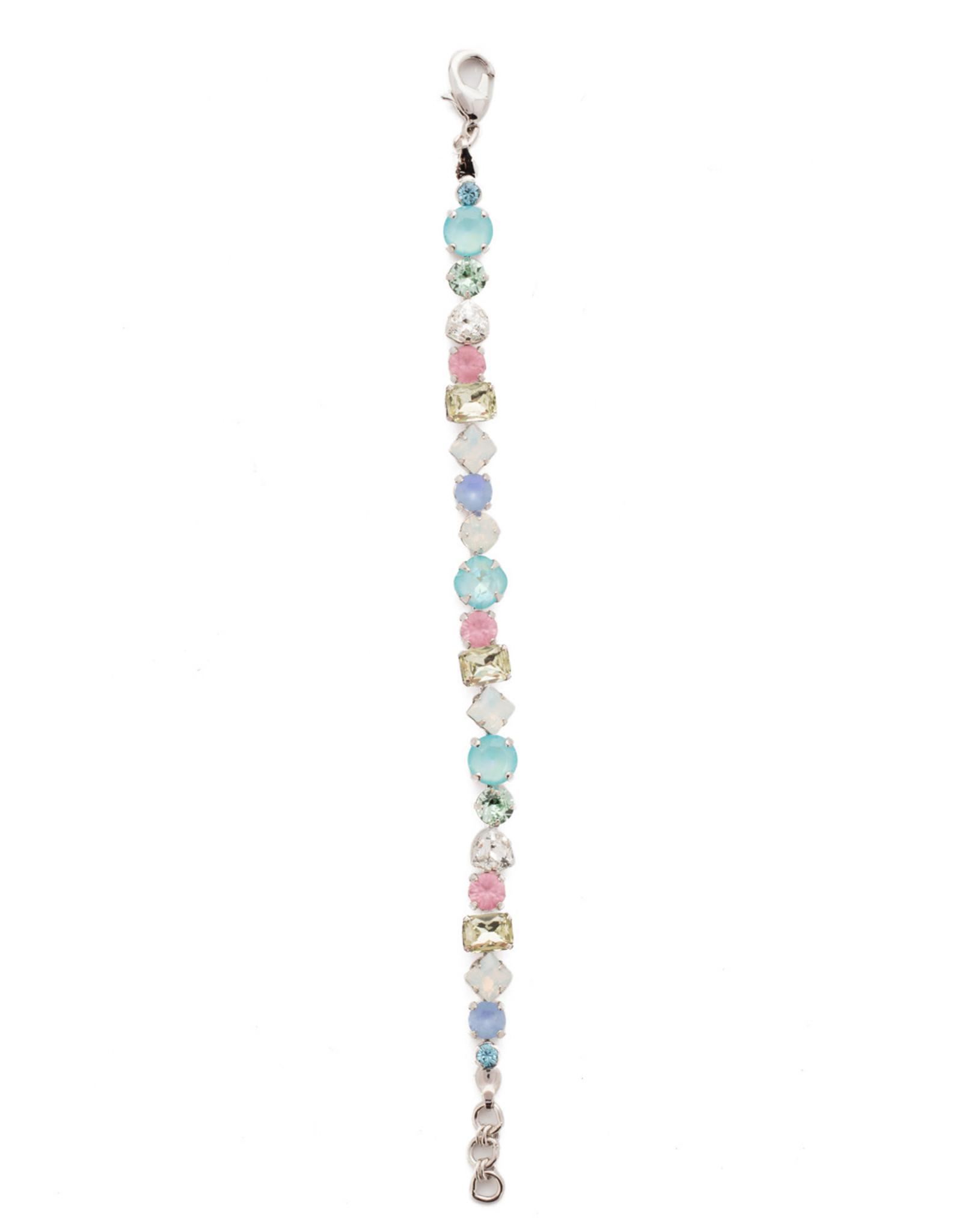 Sorrelli Sorrelli Sedge Classic Line Bracelet in Rhodium Seersucker