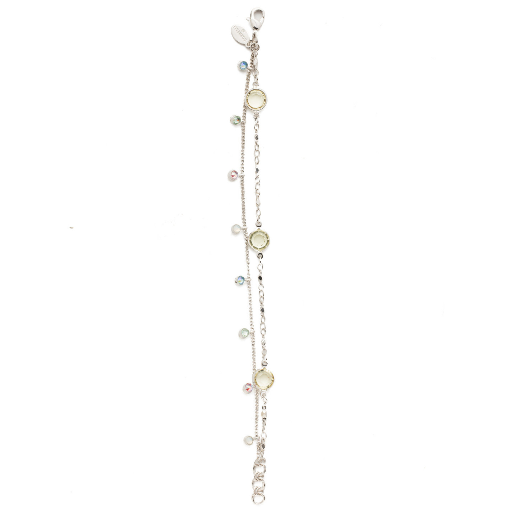 Sorrelli Sorrelli Dewdrop Tennis Bracelet in Rhodium Seersucker