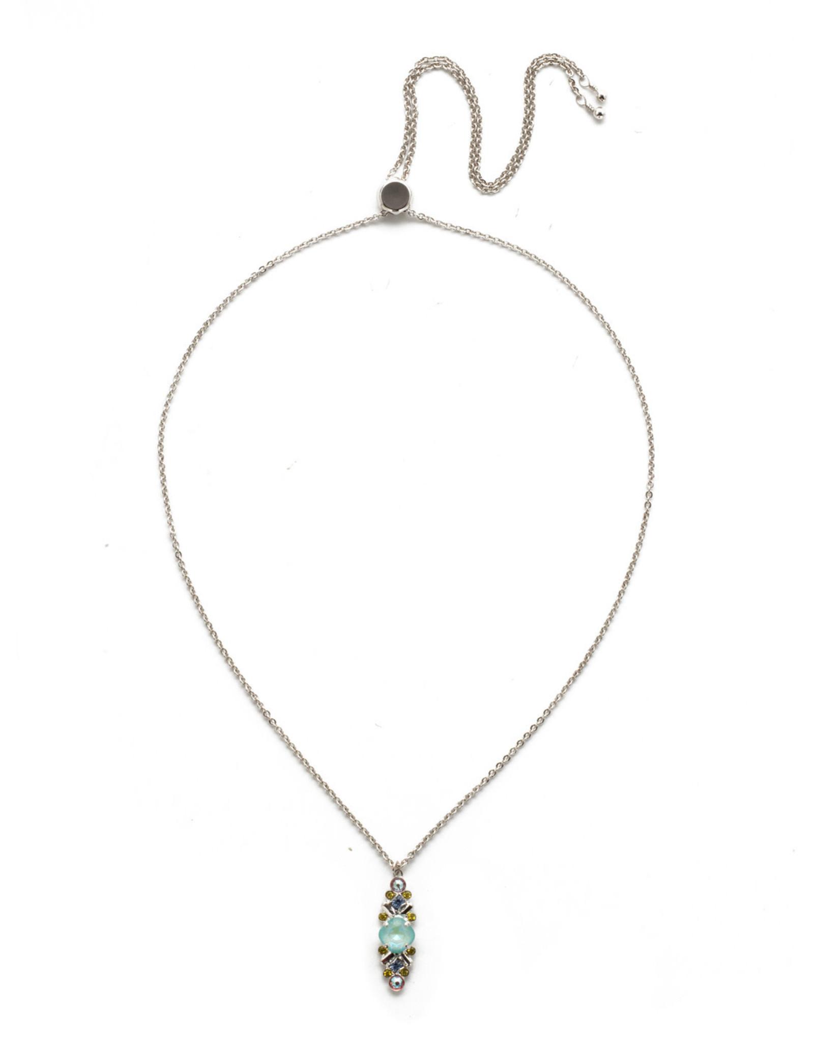 Sorrelli Sorrelli Acacia Pendant Necklace in Rhodium Seersucker