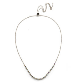 Sorrelli Sorrelli Glimmer Tennis Necklace in Rhodium Seersucker