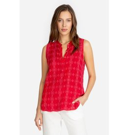 Johnny Was Laia Tank Fred Fiery Red XL