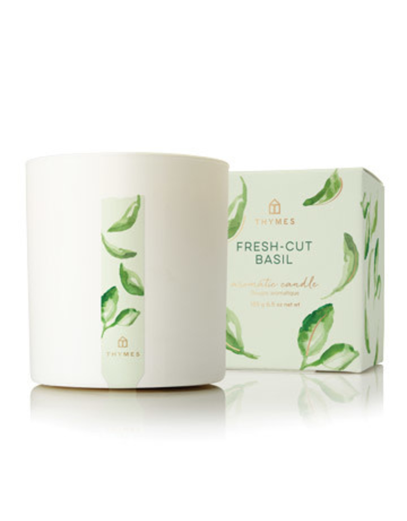 Thymes Fresh Cut Basil Candle 8oz