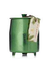 Thymes Frasier Fir Heritage Medium Green Metal Tin Candle